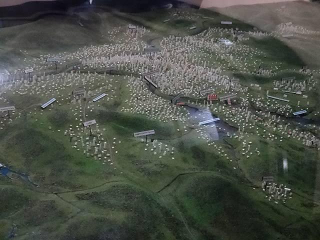 Maquete da hidrografia de São Paulo.