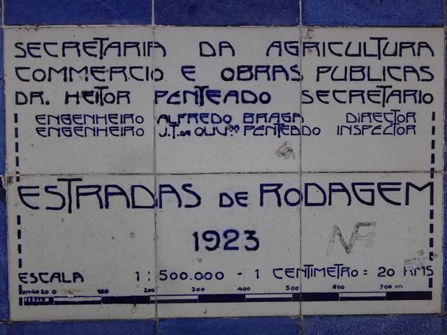 Placa indicativa no Pouso Paranapiacaba.