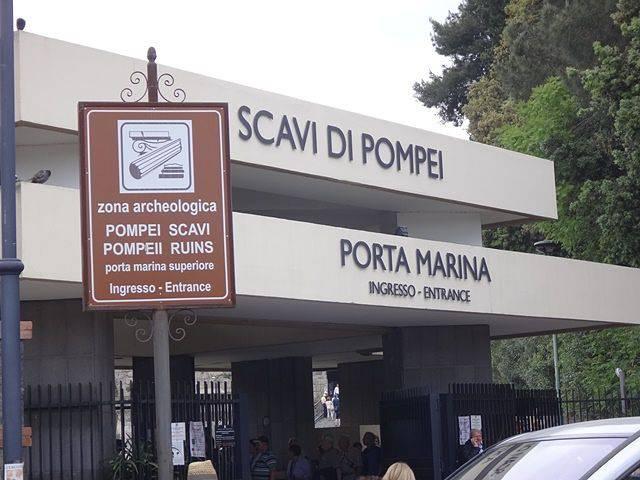 Chegando em Pompeia - Porta Marina
