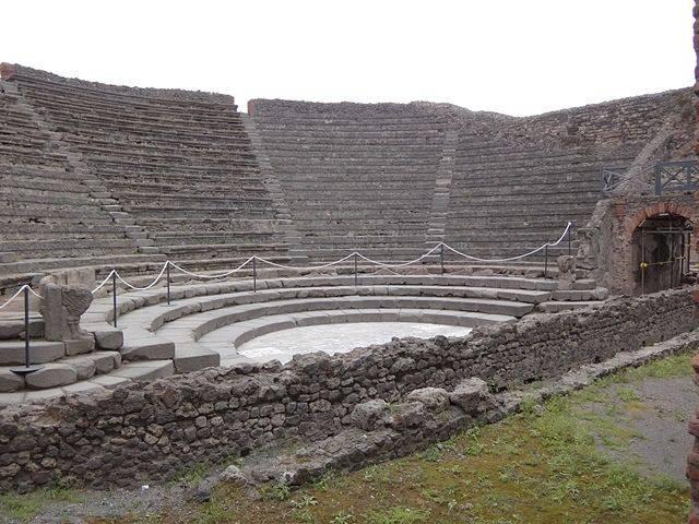Pompeia: o pequeno teatro, ou Odeon