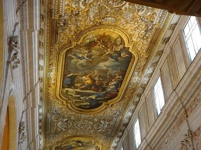 Detalhe do teto da Catedral de Sorrento