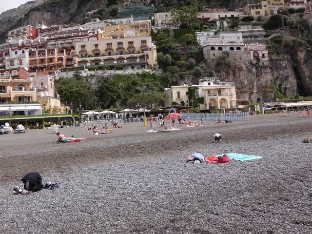 Positano: praia pública Marina Grande.