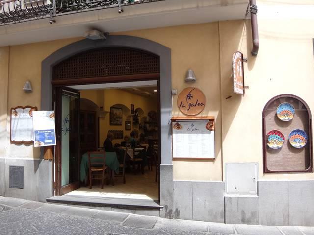 Restaurante La Galea, em Amalfi.