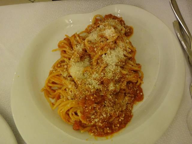 Spaghetti alla bolognese.
