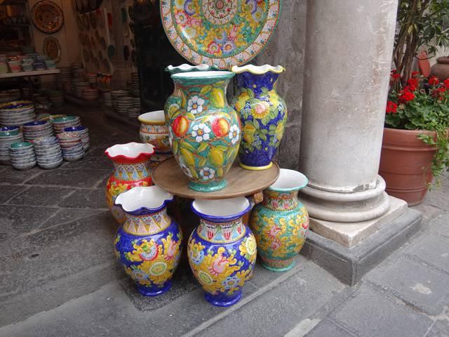 Comércio de Amalfi, na Costa Amalfitana.