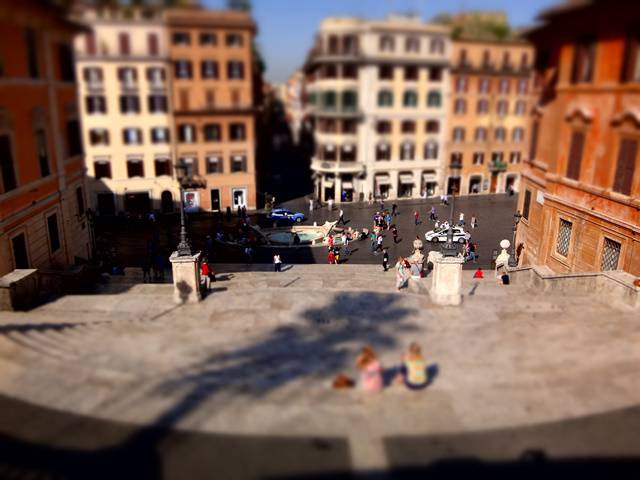 Roma, Piazza di Spagna.