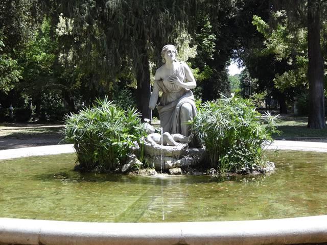 Fonte na Villa Borghese.