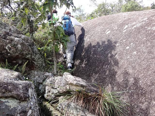 Subindo na Pedra dos Cabritos