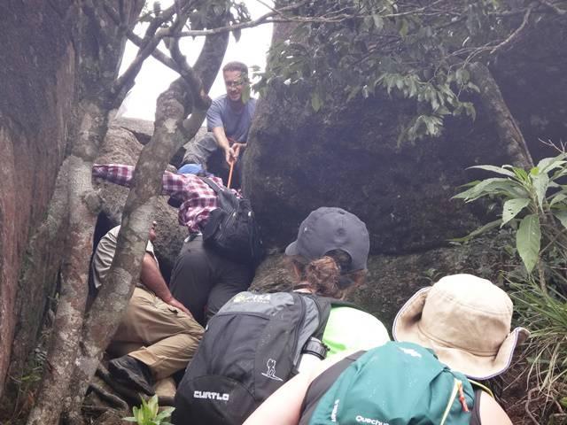 Hora da primeira escalada na Serra do Lopo