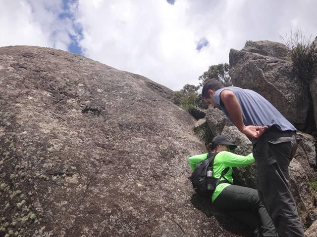 Escalaminhada final para a Pedra do Cume