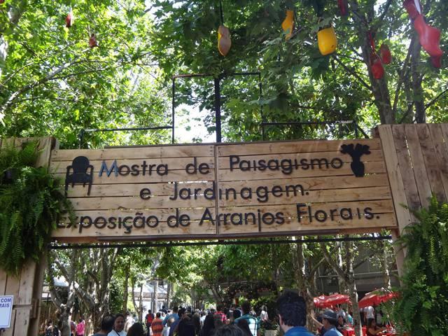 Entrada da Exposição de Paisagismo.