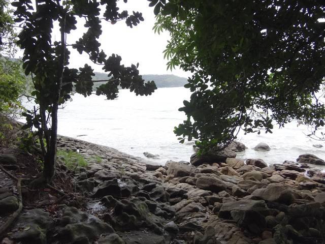 Praia da Fortaleza, seis horas após o início da trilha.