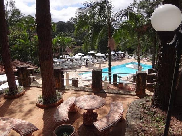 Hotel Atibainha - área da piscina.