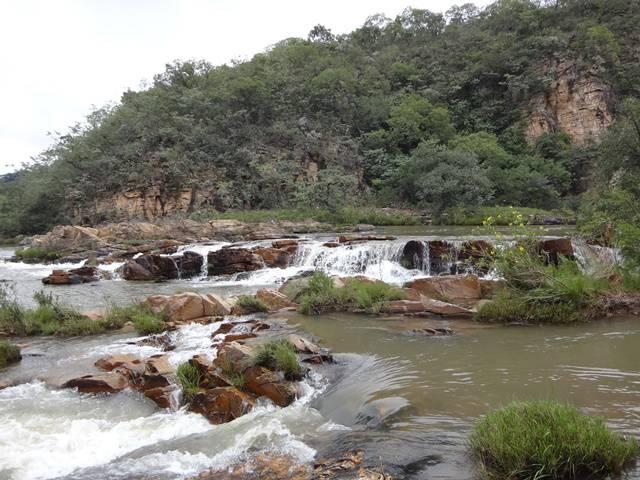 Algumas piscinas naturais na parte alta da Maria Augusta.