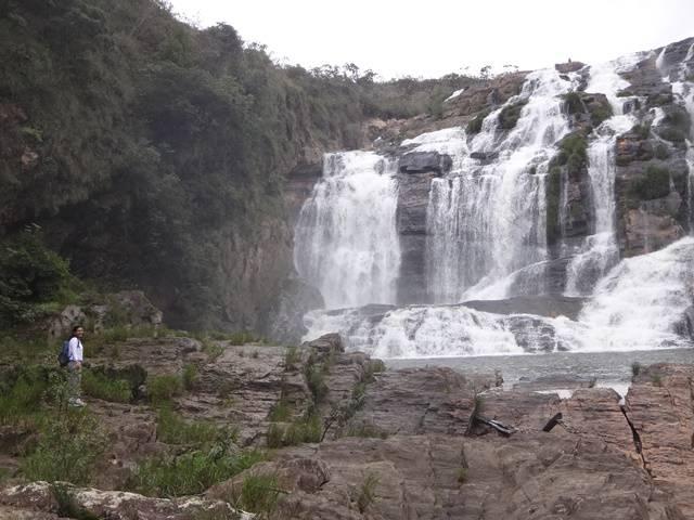 Uma das maiores quedas da Cachoeira do Quilombo.